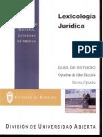 Lexicologia Juridica-Optativas de Libre Eleccion