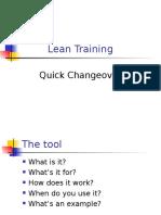 Quick Changeover Basics