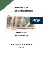 Manual de Presupuesto . 2013 Final