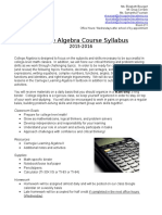 college algebra syllabus 2015-2016