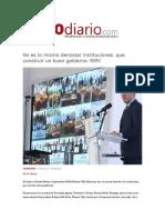 15-01-2016 Reto Diario - No Es Lo Mismo Denostar Instituciones, Que Construir Un Buen Gobierno, RMV