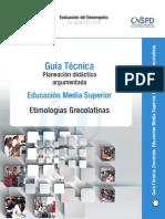 Guía Técnica para la Planeación de Etimologías Grecolatinas