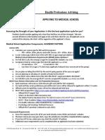 2015 Applying to Med School Handout