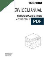 Toshiba DP-2506 service manual