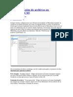 Administración de Archivos en Photoshop CS5