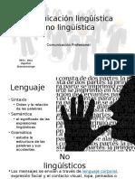Comunicación Lingüística y No Lingüística