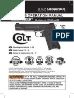 Manual Colt Commander CO2 Blowback 2254028 en FR SP 12R13