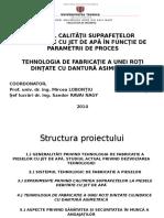 Studiul calitatii suprafetelor prelucrate cu AWJ - Prezentare lucrare licenta