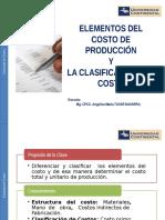 Elementos Del Costo de Producción y La Clasificación Del Costo
