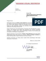 Surat Penawaran - Newsletter Writer & Design Consultant