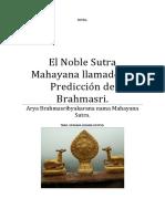 Sutra El Noble Sutra Mahayana Llamado La Predicción de Brahmasri.