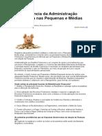 A Importância Da Administração Financeira Nas Pequenas e Médias Empresas