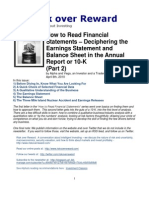 How to Read Financial Statements (Earnings statement and Balance Sheet) Part 2_Apr 2010