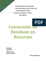 Conversión de Residuos en Recursos