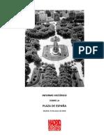 Informe histórico sobre la Plaza de España