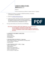 Group Document Outline