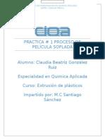 Practica# 1 Extrusión de Plásticos