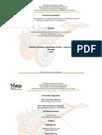 Planeamiento de Estudios Sociales y Educación Cívica Cuarto Año 1-2015