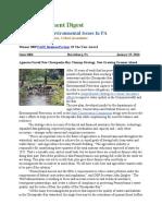 PA Environment Digest Jan. 25, 2016