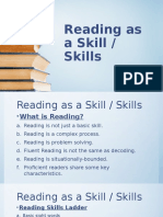 Reading as a Skill