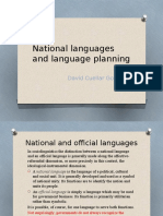 National Languages and Language Planning