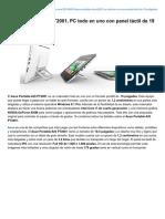 Tuexperto.com-Asus Portable AiO PT2001 PC Todo en Uno Con Panel TáCtil de 19 Pulgadas