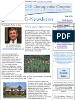 Chesapeake INCOSE May 2015 Newsletter