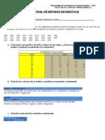 EXAMEN DE METODOS ESTADISTICOS