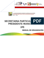 25. Manual Secretaria Particular Del Presidente Municipal