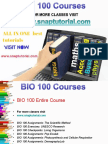 BIO 100 Proactive Tutors/snaptutorial