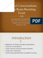 cultural conversations with a brain-boosting twist 2012