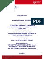 Ruiz Hidalgo Rafael Influencia Liberal