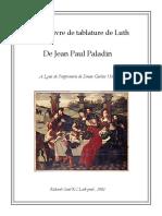Jean-Paul Paladin - Premier Livre 1560 - Edition Civiol French Tab