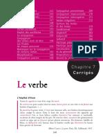Le verbe - grammaire - exercices