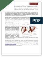 Dr. Naimish N. Mehta Performed Over 725 Liver Transplantation in Delhi