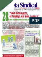 15. Gaceta Sindical Especial 28 de Abril Dia Internacional de La Salud y Seguridad en El Trabajo
