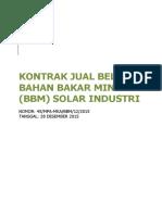 Kontrak Jual Beli Solar Industri Petronas Nenssb 2015