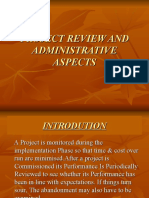 Project Review and Administrative Aspects
