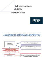 Ultimas Modificaciones Sistema Detracciones