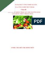 xây dựng khẩu phần ăn cho người giảm cân bằng thực phẩm chay.docx