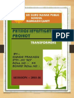 Physics Transformer Class Xii Project