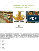 Marketing Report Sample Noodles