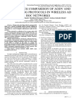 PERFORMANCE COMPARISON OF AODV AND DSDV ROUTING PROTOCOLS IN WIRELESS AD HOC NETWORKS