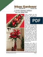 Urban Gardener November 2015 86th Issue
