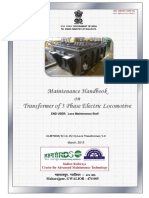 Maintenance Handbook on Transformer of 3 Phase Electric Locomotive