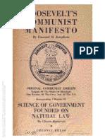 Roosevelts Communist Manifesto - Emanuel M. Josephson