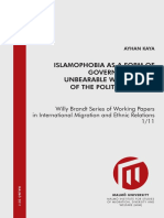 Islamophobia as Governmentality