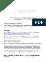 Corso Integrato Istologia e Anatomia Umana I Per Medicina