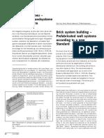 Ziegelmontagebau, Vorgefertigte Wandsysteme Nach Neuer Norm