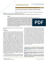 Characterization of Silver Powder After Biofield Treatment
